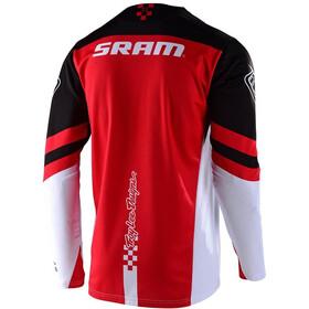 Troy Lee Designs Sprint Factory Maglia Jersey A Maniche Lunghe Ragazzi, sram black/red